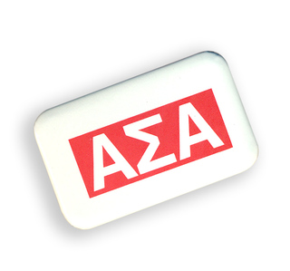 Alpha Sigma Alpha Flag Shaped Button