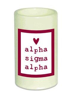 Alpha Sigma Alpha Flameless Candle
