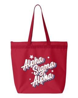 Alpha Sigma Alpha Flashback Tote Bag