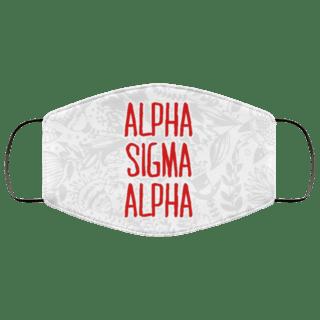 Alpha Sigma Alpha Floral Face Mask