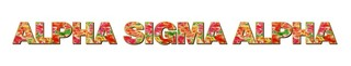 "Alpha Sigma Alpha Floral Long Window Sticker - 15"" long"