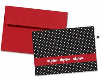 Alpha Sigma Alpha Polka Dot Notecards(6)