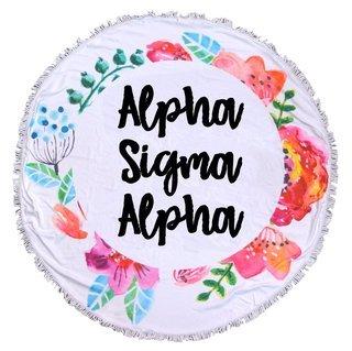 Alpha Sigma Alpha Fringe Towel Blanket