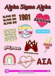 Alpha Sigma Alpha Girl Power Stickers