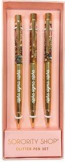 Alpha Sigma Alpha Glitter Pens (Set of 3)