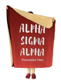 Alpha Sigma Alpha Gradient Sherpa Lap Blanket