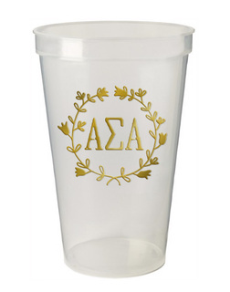 Alpha Sigma Alpha Greek Wreath Giant Plastic Cup