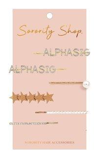 Alpha Sigma Alpha Hair Clips