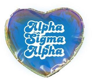 Alpha Sigma Alpha Heart Shaped Makeup Bag