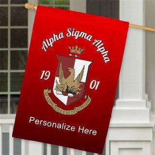 Alpha Sigma Alpha House Flag