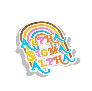 Alpha Sigma Alpha Joy Decal Sticker