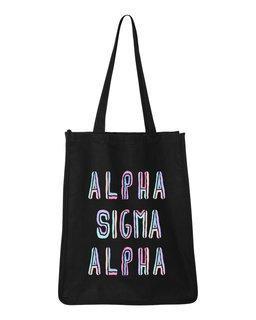 Alpha Sigma Alpha Jumbo All In Tote Bag
