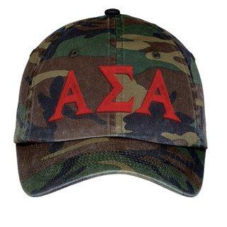 Alpha Sigma Alpha Lettered Camouflage Hat