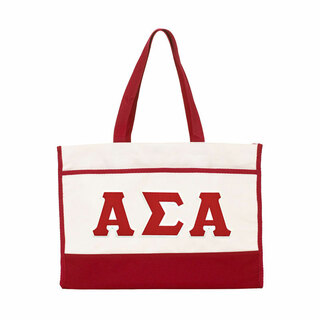 DISCOUNT-Alpha Sigma Alpha Lettered Contemporary Tote