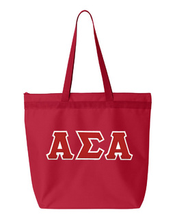 DISCOUNT-Alpha Sigma Alpha Lettered Game Day Tote