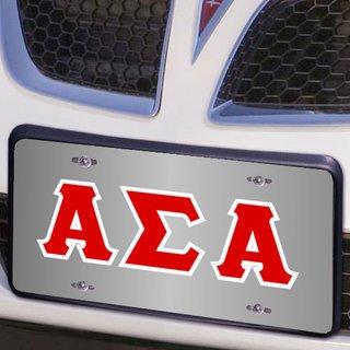 Alpha Sigma Alpha Lettered License Cover