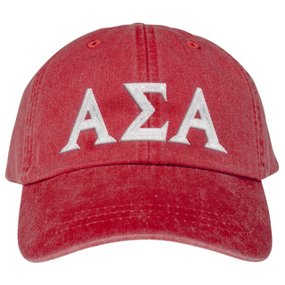 Alpha Sigma Alpha Lettered Premium Pastel Hat