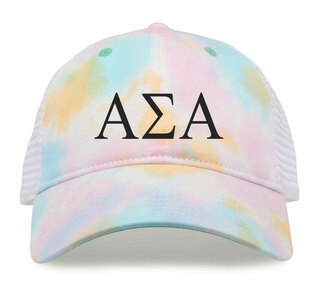 Alpha Sigma Alpha Lettered Rainbow Cap