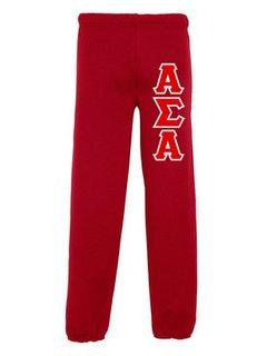Alpha Sigma Alpha Lettered Sweatpants