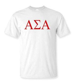 Alpha Sigma Alpha Lettered Tee - $14.95!