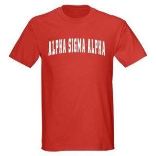 Alpha Sigma Alpha Letterman T-Shirts