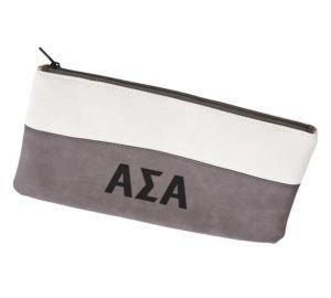 Alpha Sigma Alpha Letters Cosmetic Bag