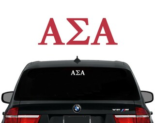 Alpha Sigma Alpha Letters Decal