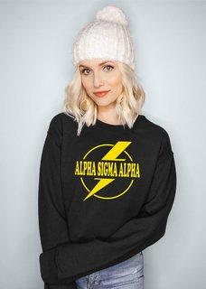 Alpha Sigma Alpha Lightning Crewneck Sweatshirt