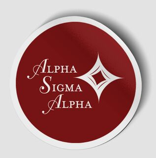 Alpha Sigma Alpha Logo Round Decal