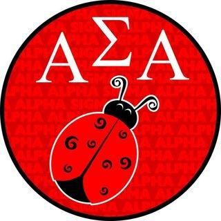 Alpha Sigma Alpha Mascot Round Decals