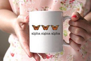 Alpha Sigma Alpha Monarch Butterfly Coffee Mug