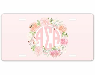Alpha Sigma Alpha Monogram License Plate