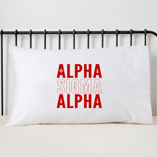 Alpha Sigma Alpha Name Stack Pillow Cover