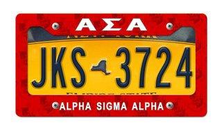 Alpha Sigma Alpha New License Plate Frame