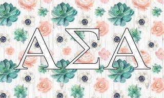 Alpha Sigma Alpha New Succulent Flag