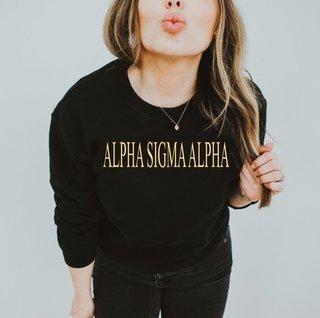 Alpha Sigma Alpha Nickname Crew Sweatshirt