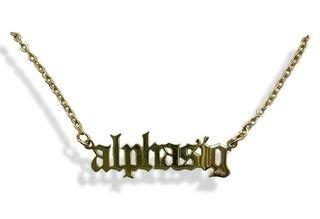 Alpha Sigma Alpha Old English Necklaces