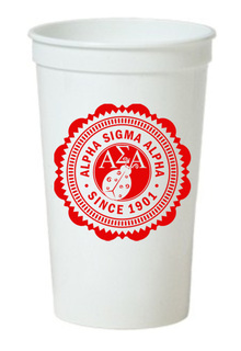 Alpha Sigma Alpha Old Style Classic Giant Plastic Cup