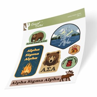 Alpha Sigma Alpha Outdoor Sticker Sheet