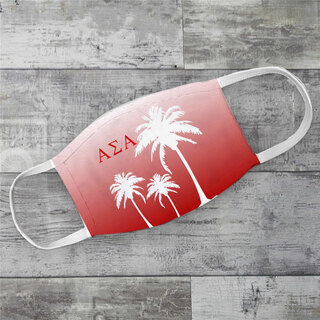 Alpha Sigma Alpha Palm Trees Face Mask