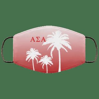 Alpha Sigma Alpha Palm Trees Face Mask