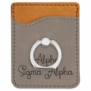 Alpha Sigma Alpha Phone Wallet with Ring