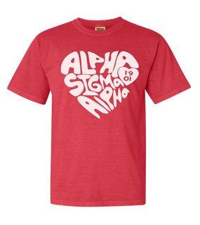 Alpha Sigma Alpha Piece of My Heart Sorority Comfort Colors T-Shirt