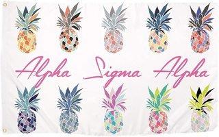 Alpha Sigma Alpha Pineapple Flag