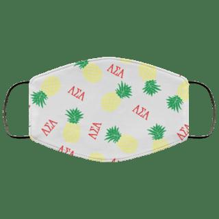 Alpha Sigma Alpha Pineapples Face Mask