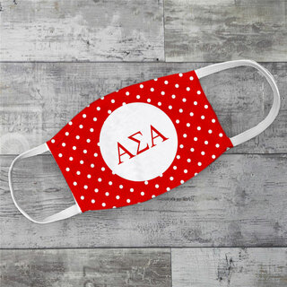 Alpha Sigma Alpha Polka Dots Face Mask