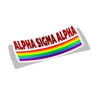 Alpha Sigma Alpha Prism Decal Sticker