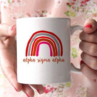 Alpha Sigma Alpha Rainbow Coffee Mug