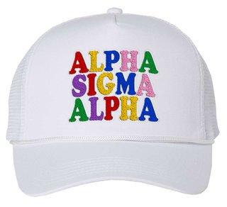 Alpha Sigma Alpha Rainbow Trucker Hat