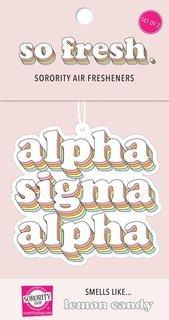Alpha Sigma Alpha Retro Air Freshener (2 pack)